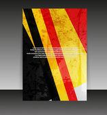 Design de folheto ou capa. background de conteúdo de pasta projeto. editabl — Vetorial Stock