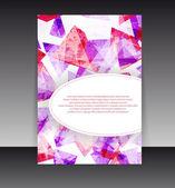 Leták nebo obal design. obsah pozadí návrhu složky. editabl — Stock vektor