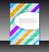 Flyer or cover design. Folder design content background. editabl — Stock Vector