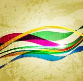 Regenbogen welle hintergrund abstrahieren. linie für design — Stockvektor