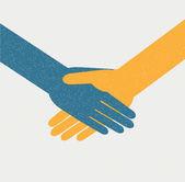 Fond de la poignée de main — Vecteur