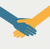 Handshake background — Cтоковый вектор