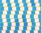 Abstrakte form-design-konzept. horizontale linien erscheinen gekrümmt, ein — Stockvektor