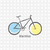 Old bicycle retro background — Stock Vector