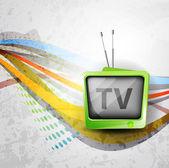Retro TV background — Cтоковый вектор
