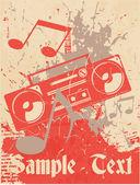 Musical background. Cassette recorder — Stock Vector