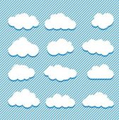 Clouds collection — Stock Vector