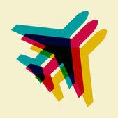 Simbolo di aeroplano — Vettoriale Stock