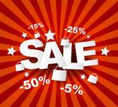 Affiche de vente avec le pourcentage de réduction — Vecteur