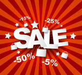 Sale poster with percent discount — Vettoriale Stock