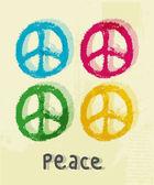 Ilustración del signo de la paz — Vector de stock