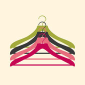 Clothes hanger — Stock Vector