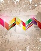 Abstrakt färgglada teknik vektor bakgrund — Stockvektor