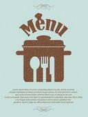 Restaurant menu retro poster — Stock Vector