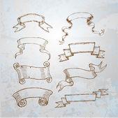 Decorative vintage ribbons — Stock Vector