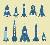 Icona del razzo — Vettoriale Stock