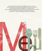 Menu. Design print background — Stock Vector
