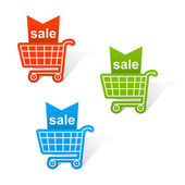 Shopping basket labels. — Stock Vector