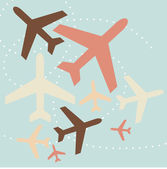 Airplane background — Stock Vector