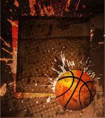 Basketball Advertising poster. Vector illustration — Stock Vector