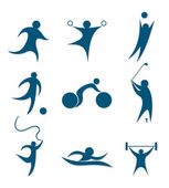 Icons sports — Stock Vector
