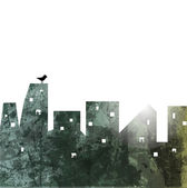 The city wall. abstract illustration. Vector Background — Stock Vector