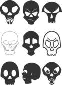 Stylized skull — Stock Vector