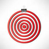 Red darts target — Stock Vector