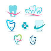 Dental icons. Stomatology. — Stok Vektör