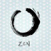 Círculo de pincelada de caligrafia zen. personagem oriental. — Vetorial Stock