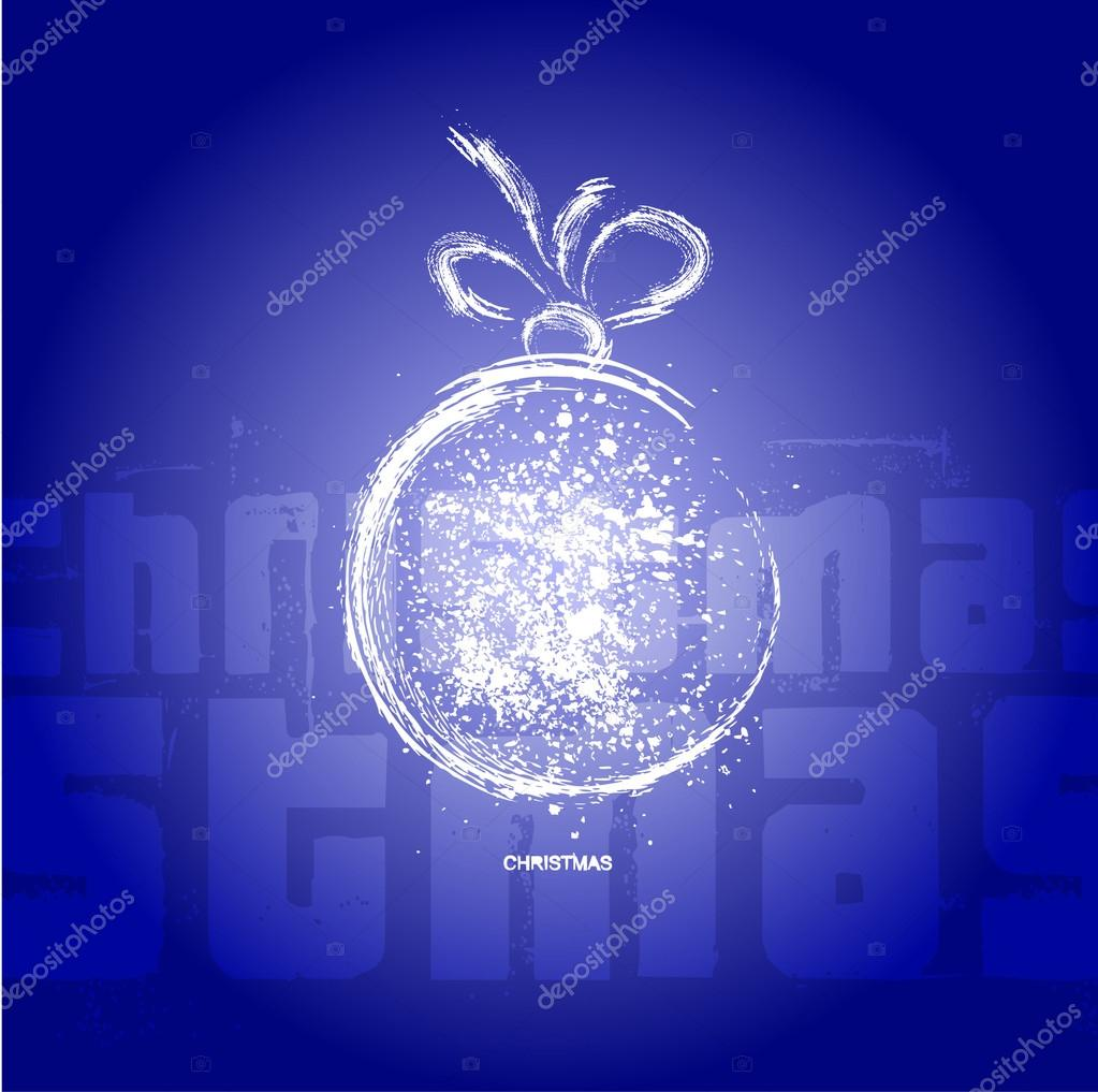 Christmas decoration stylized ball. — Stock Vector #13675657