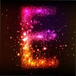 Stock Photo: Neon Light Alphabets. Letter E