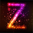 Stock Photo: Neon Light Alphabets. Letter Z