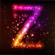Neon Light Alphabets. Letter Z — Stock Photo #13754046