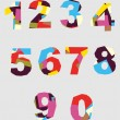 Abstract background with colorful rainbow numbers for design — Stock Photo #13754335