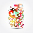 Abstract background with colorful rainbow numbers for design — Stock Photo #13754345