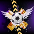 Soccer poster public viewing — Stock Photo