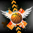 Royalty-Free Stock Photo: Vector background of basketball sport