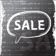 Stock Photo: Word sale written with chalk. grunge background. Raster version