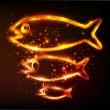 Fish symbol — Stock Photo