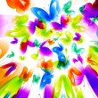 Stock Photo: Colorful background with butterfly. Vector.