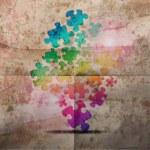Vintage corporate achtergrond. abstracte puzzel vorm kleurrijke vector ontwerp — Stockfoto #13754612
