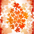 Abstract grunge puzzle shape colorful vector design — Stock Photo #13754614