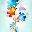 Abstract puzzle shape colorful vector design — Stock Photo #13754688
