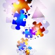 Abstract puzzle shape colorful vector design — Foto Stock