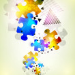 Abstract puzzle shape colorful vector design — Stock Photo #13754692