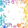 Abstract background with colorful rainbow numbers for design — Stock Photo #13754751