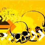 Skull grunge background — Stock Photo