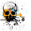 Skull grunge background - Stock Photo