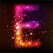Neon Light Alphabets. Letter E — Stock Photo